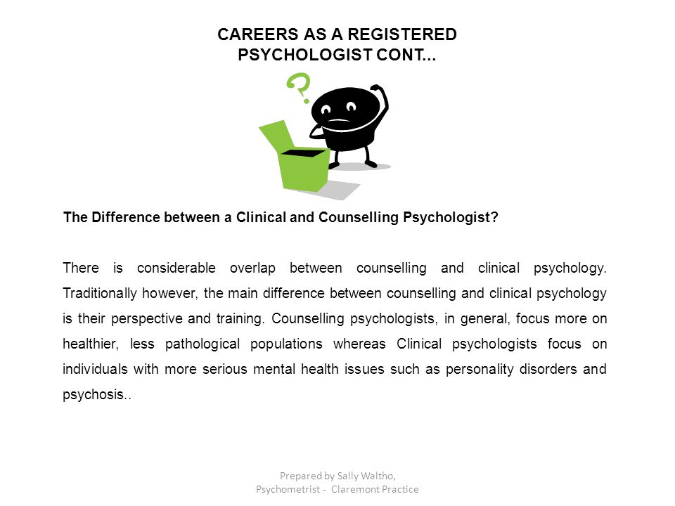 The Difference between a Clinical and Counselling Psychologist.