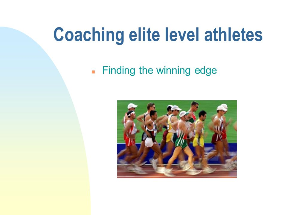 u Being willing to surrender to the sport Coaching elite level athletes