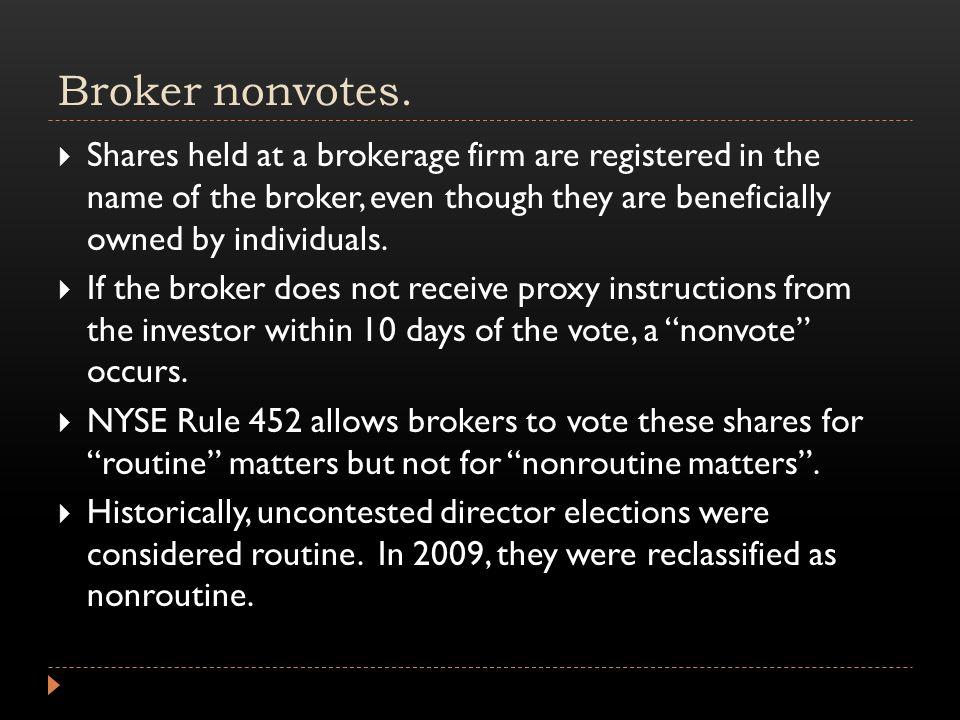 Broker nonvotes.