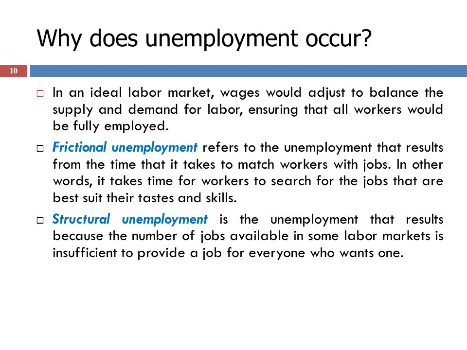 Why does unemployment occur.