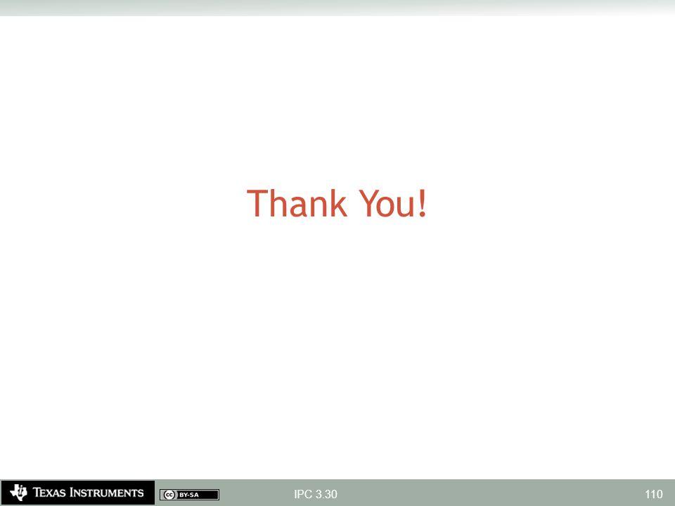 Thank You! IPC 3.30 110