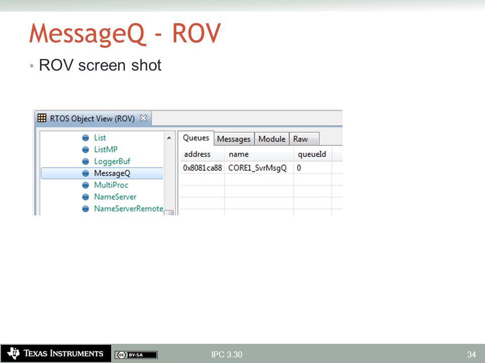 MessageQ - ROV ROV screen shot IPC 3.30 34