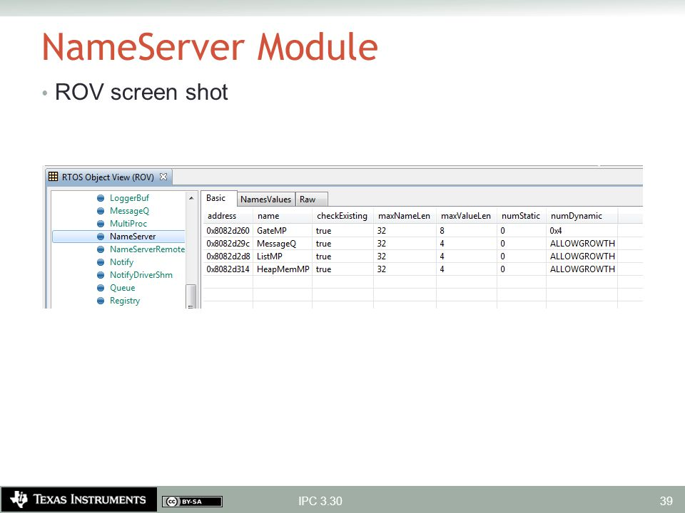 NameServer Module ROV screen shot IPC 3.30 39