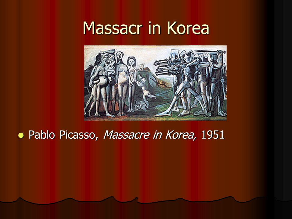 Massacr in Korea Pablo Picasso, Massacre in Korea, 1951