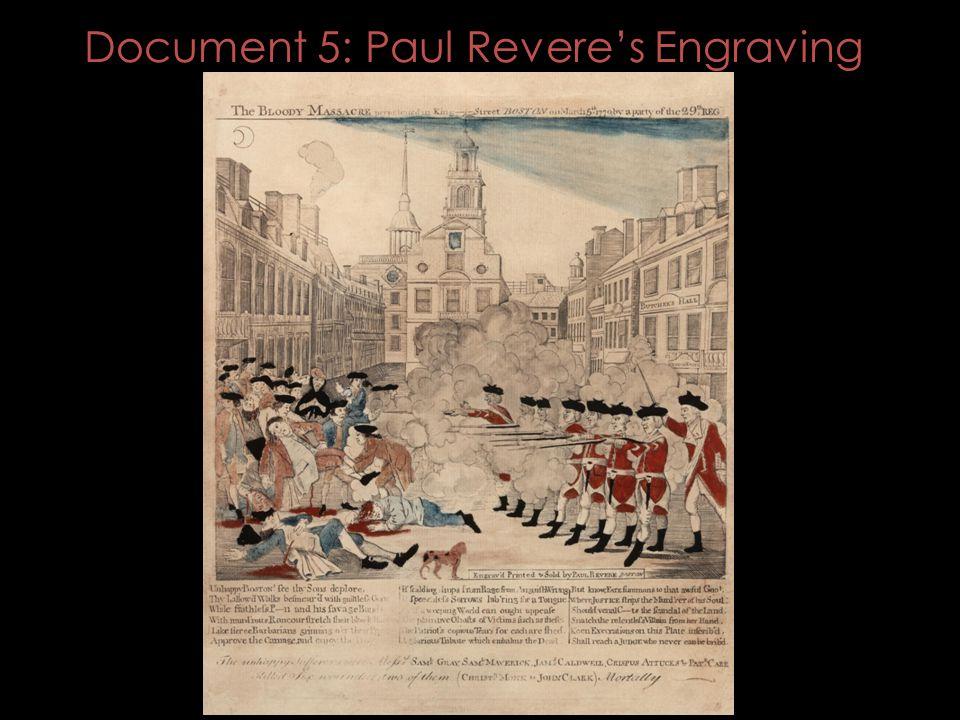 Document 5: Paul Revere's Engraving