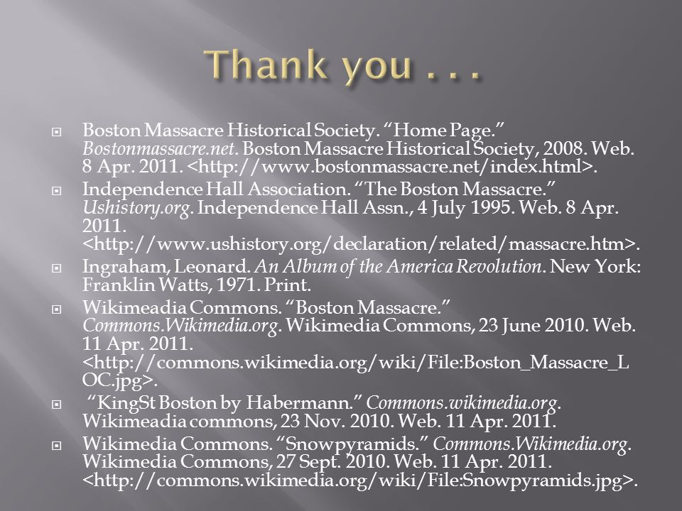  Boston Massacre Historical Society. Home Page. Bostonmassacre.net.