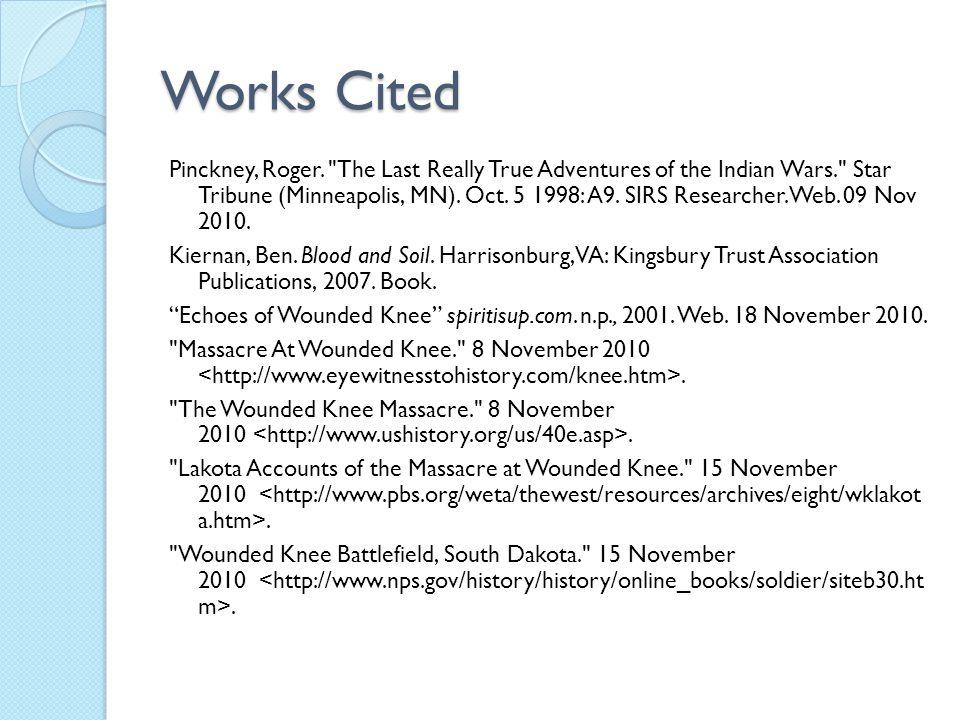 Works Cited Pinckney, Roger.