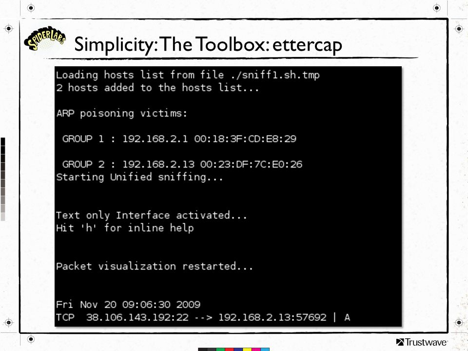 Simplicity: The Toolbox: ettercap