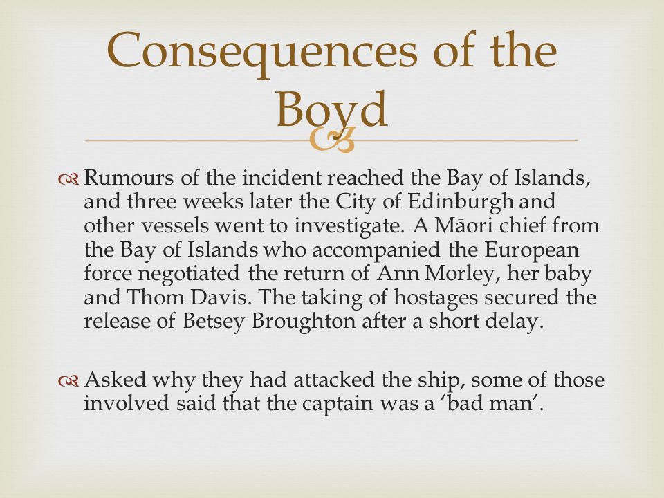   The whalers present blamed Te Pahi for the incident, even though the real perpetrators declared his innocence.