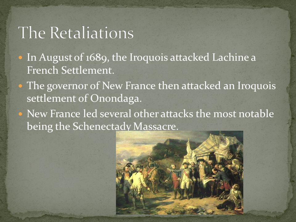 200 Frenchmen along with Algonquin and Sault raiders went from Montreal to English outposts.