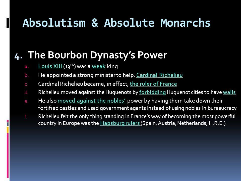 Louis XIII (13 th ) & Cardinal Richelieu