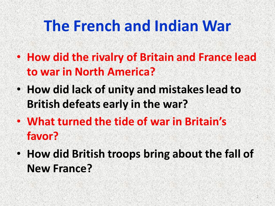 how the french and indian war The french and indian war the french and indian war was part of the seven years war waged between france and england they fought for control of north america and the rich fur trade.