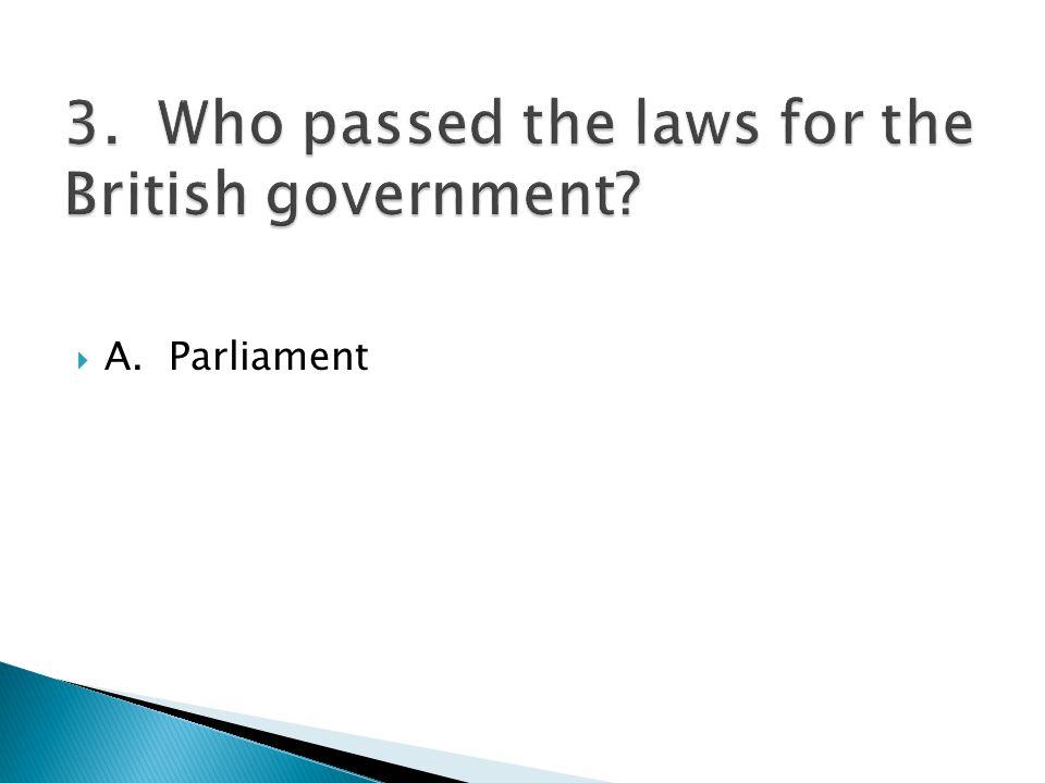  A. Parliament
