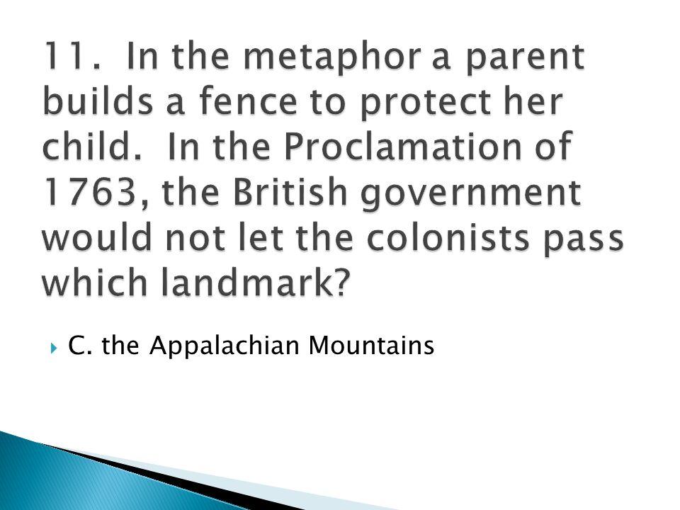  C. the Appalachian Mountains