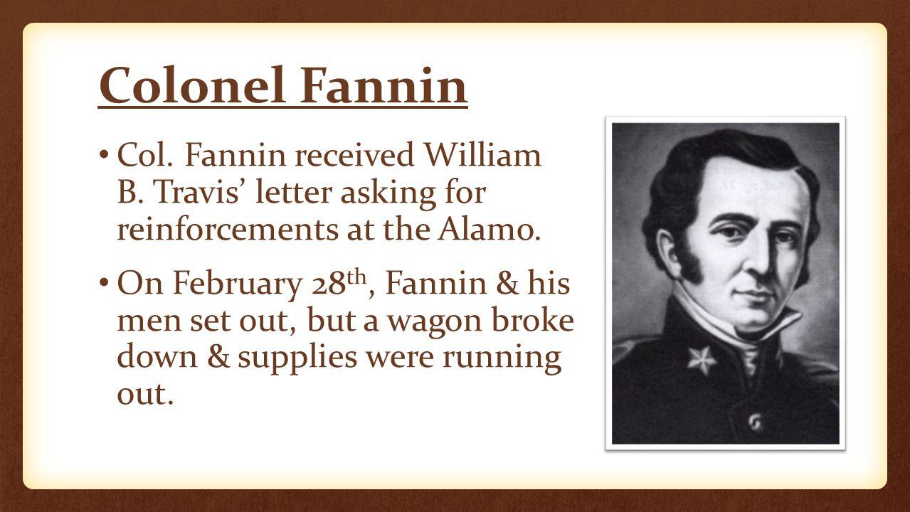 Fighting at Refugio Col.Fannin sent 100 men to help the Texans at Refugio defend against Urrea.