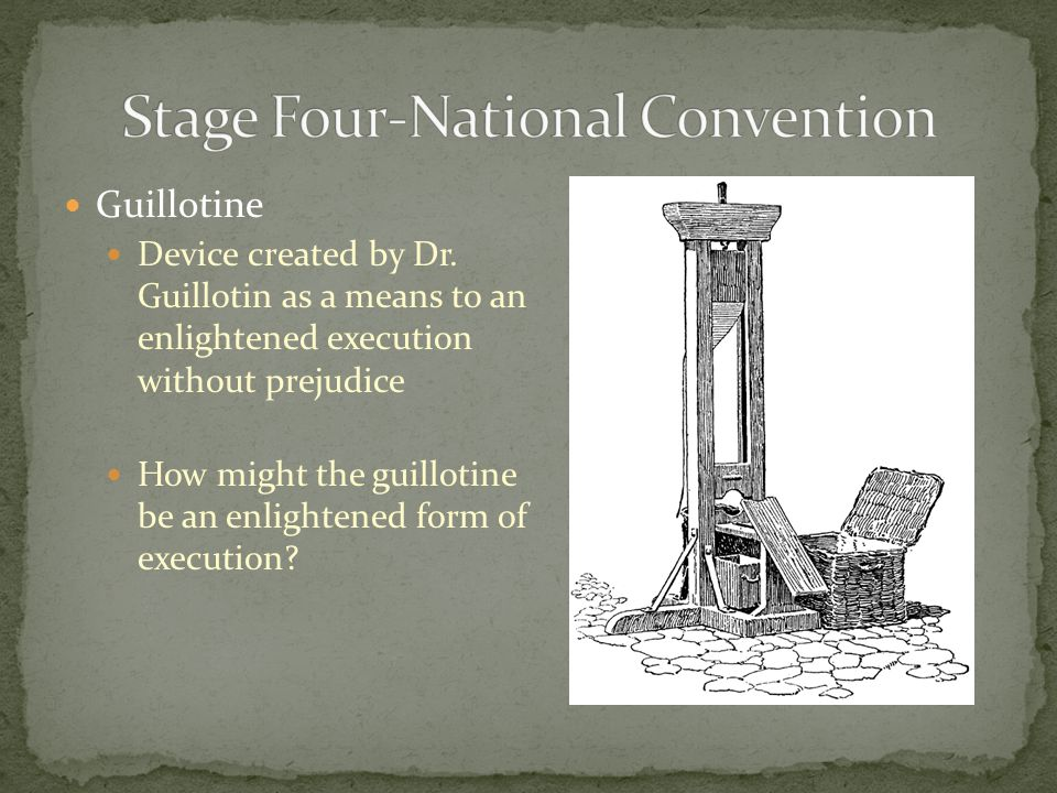 Guillotine Device created by Dr.