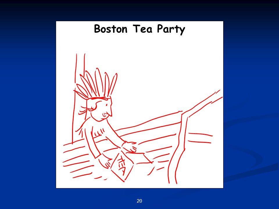 20 Boston Tea Party
