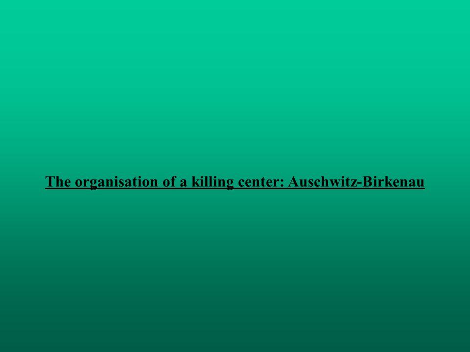 The organisation of a killing center: Auschwitz-Birkenau