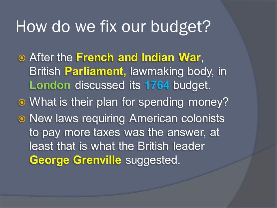 How do we fix our budget.