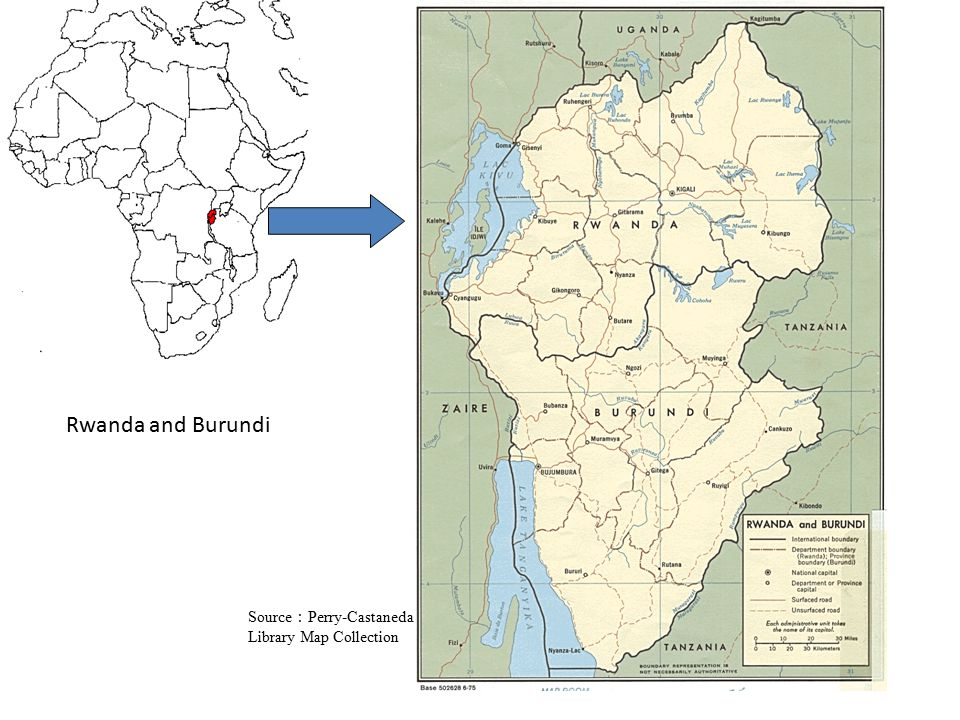 Central highlands and frontiers Central Rwanda: Thousands hills Southern Burundi near to Tanzania
