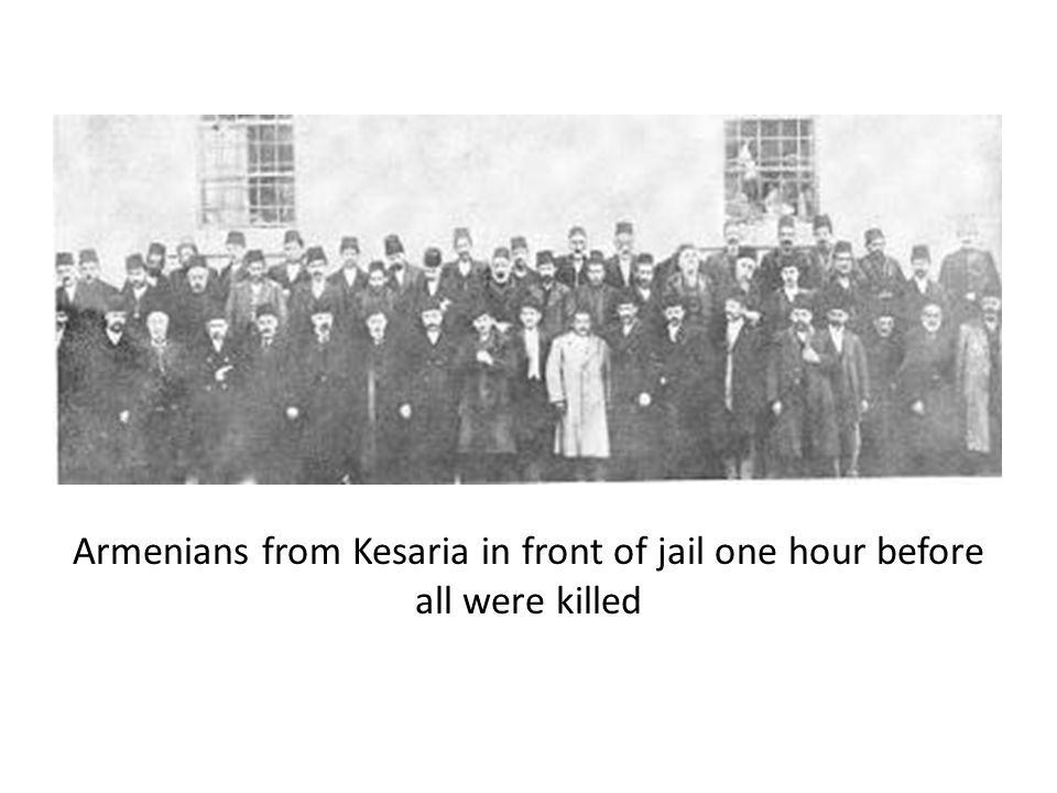 Armenians from Kesaria in front of jail one hour before all were killed
