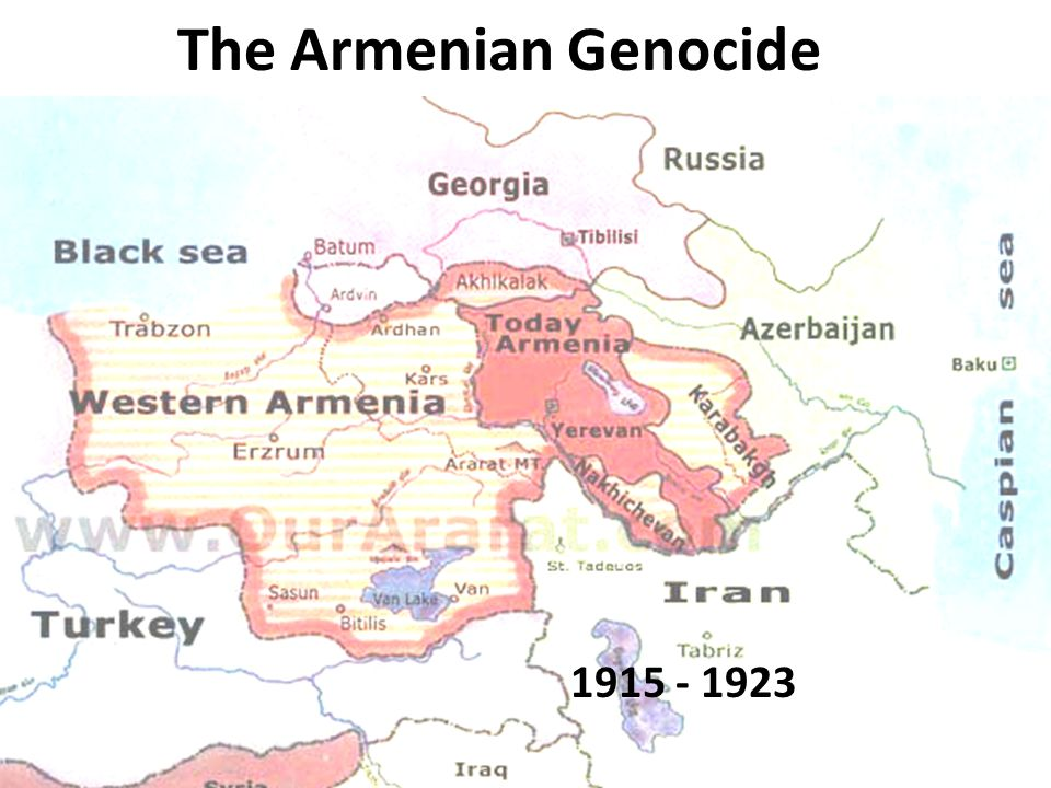 April 24, 1915 300 Armenian Leaders from Constantinople political leaders writers clergy Educators and dignitaries Taken from their homes, jailed & tortured, then hanged and shot Tied together with rope in small groups then taken to the outskirts of their town and shot dead