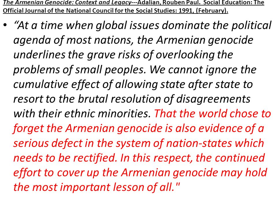 Armenian Leaders' Fate Fate of Armenian Soldiers: Many Armenian citizens were between the age of 25-45 and thus conscripted to the army.