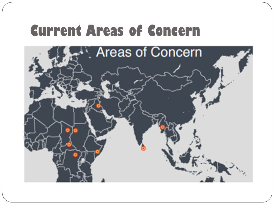 Current Areas of Concern