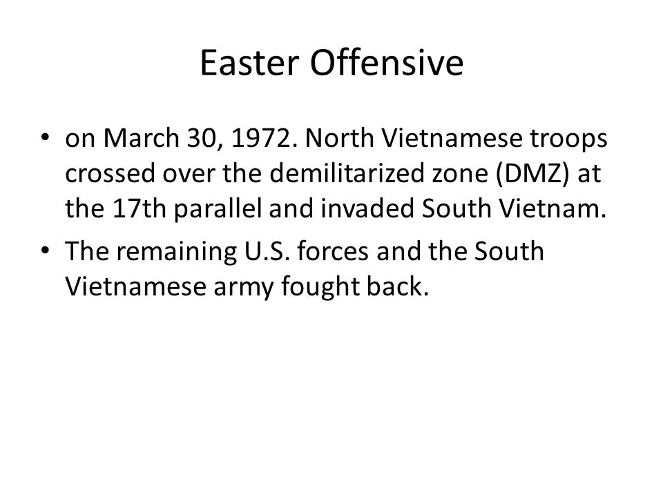 Easter Offensive on March 30, 1972.