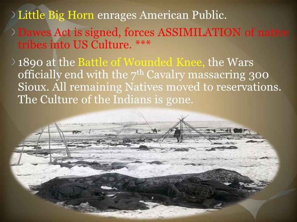 Little Big Horn enrages American Public.