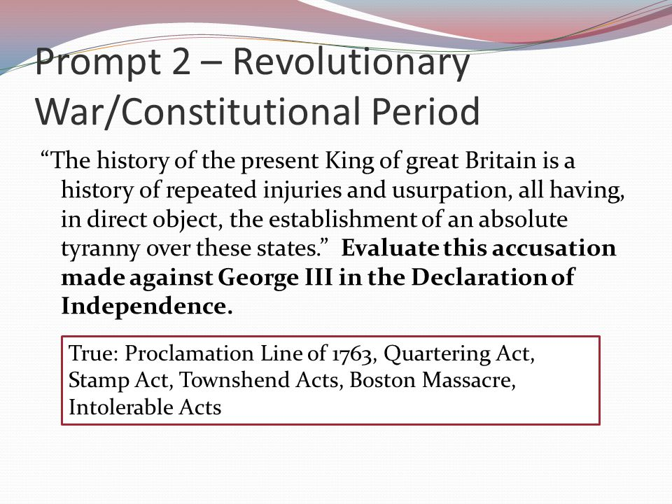 Prompt 3: Federalist Era, Jeffersonian Era, Era of Good Feelings The Bill of Rights did not come from a desire to protect the liberties won in the American Revolution, but rather from a fear of the powers of the new federal government.