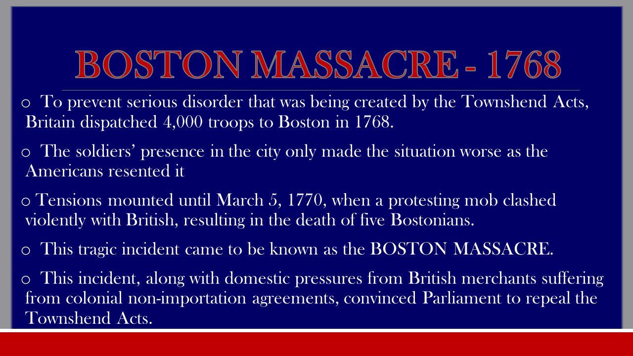 Boston massacre 1768
