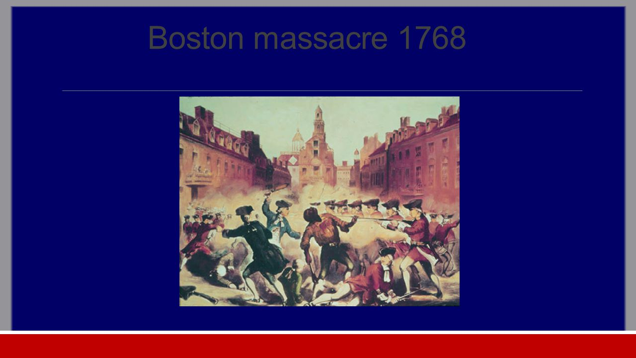 Boston massacre 1768