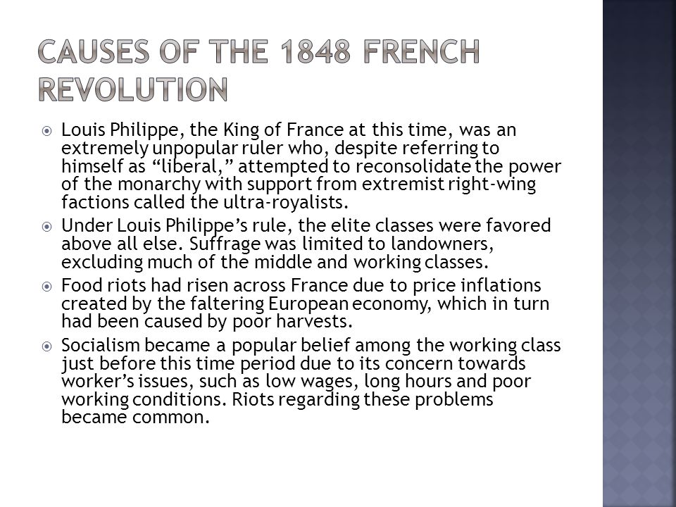P.I.R.A.T.E.S for effects of the Revolution of 1848 Politics: The government structure after the revolution was extremely disorganized.