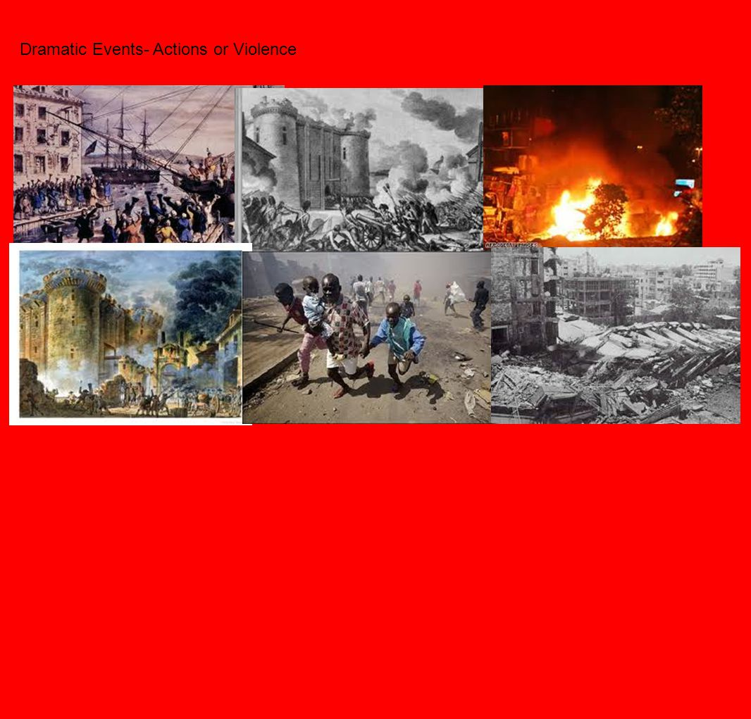 Dramatic Events- Actions or Violence
