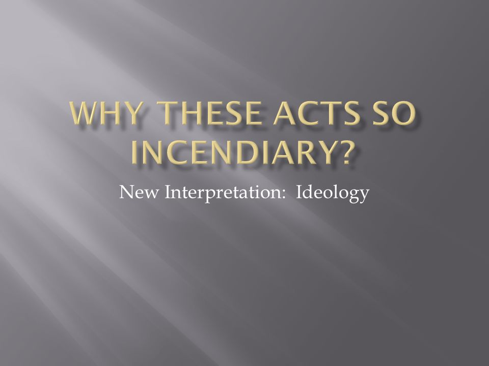 New Interpretation: Ideology