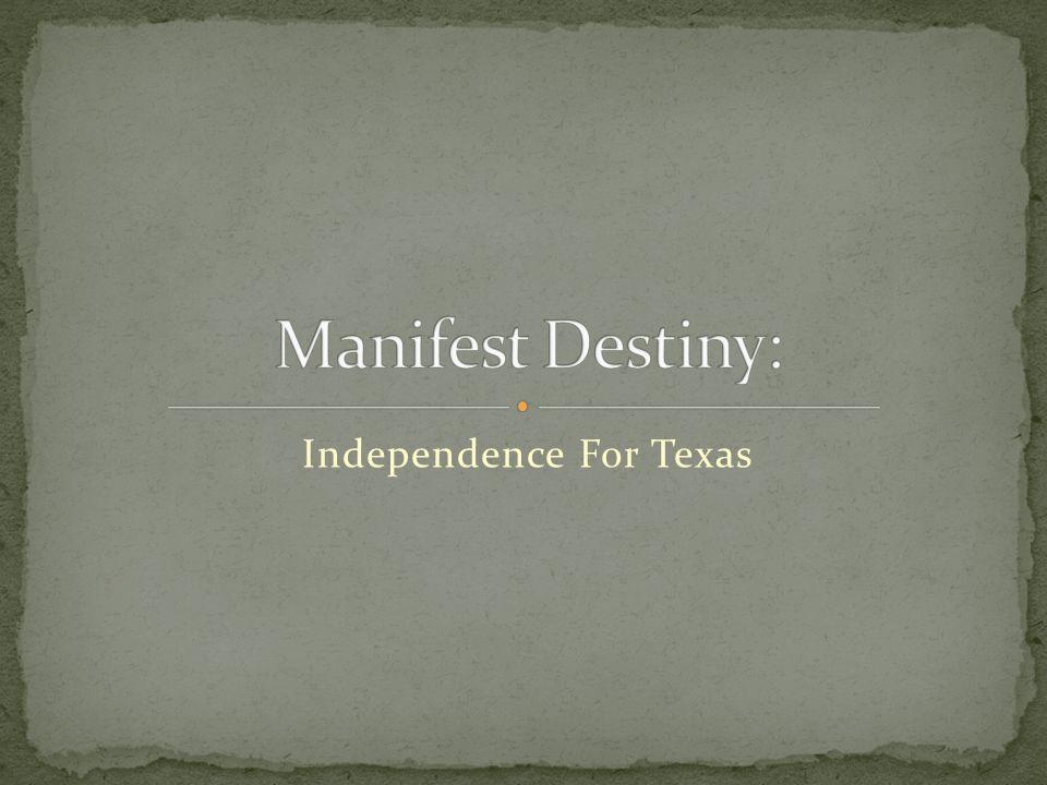 Texans elected Sam Houston as their president in September 1836.