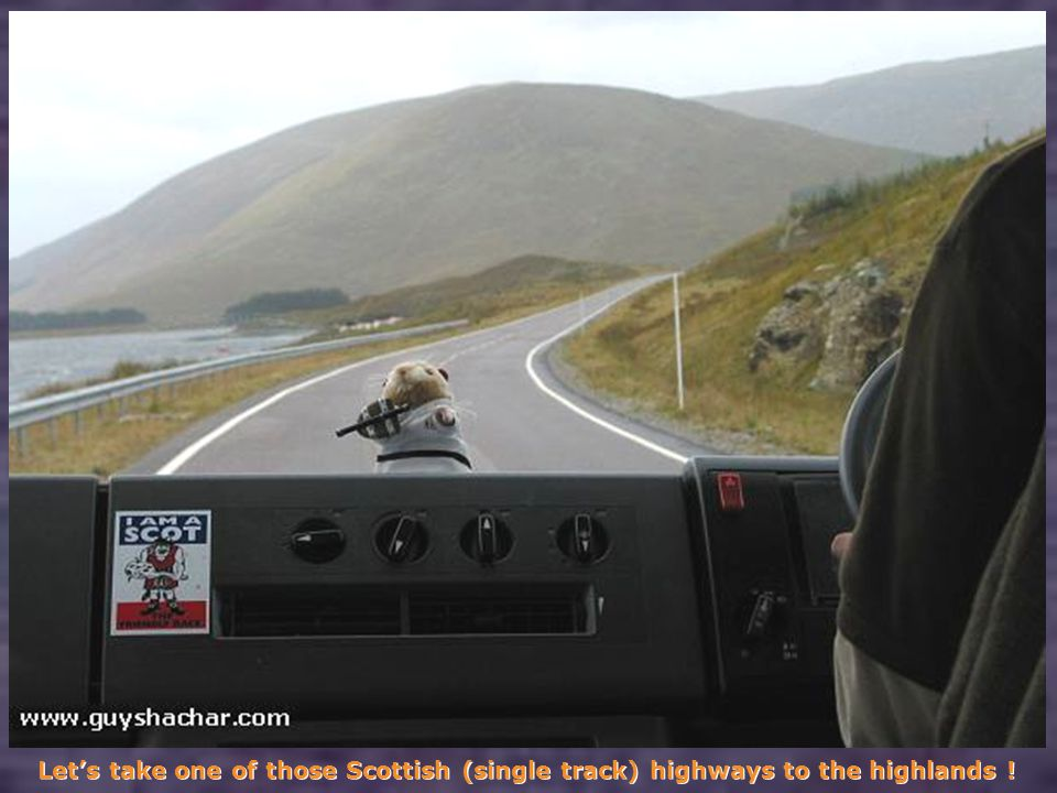Let's take one of those Scottish (single track) highways to the highlands !
