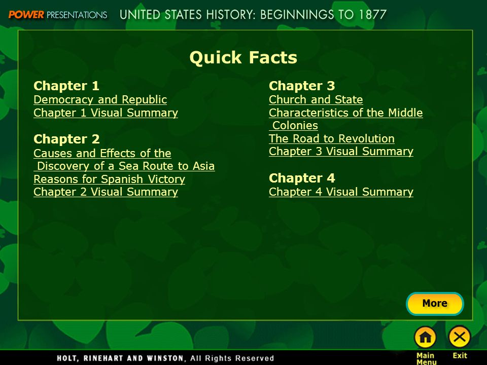 Quick Facts Chapter 5 Weaknesses of the Articles of Confederation Great Compromise The Constitution Strengthens the National Government Federalists vs.