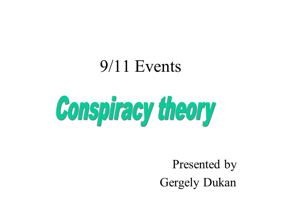 9/11 Events Presented by Gergely Dukan