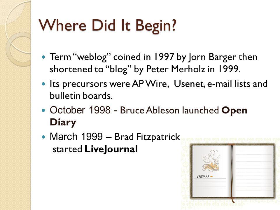 Where Did It Begin.