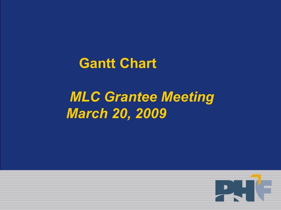 Gantt Chart MLC Grantee Meeting March 20, 2009
