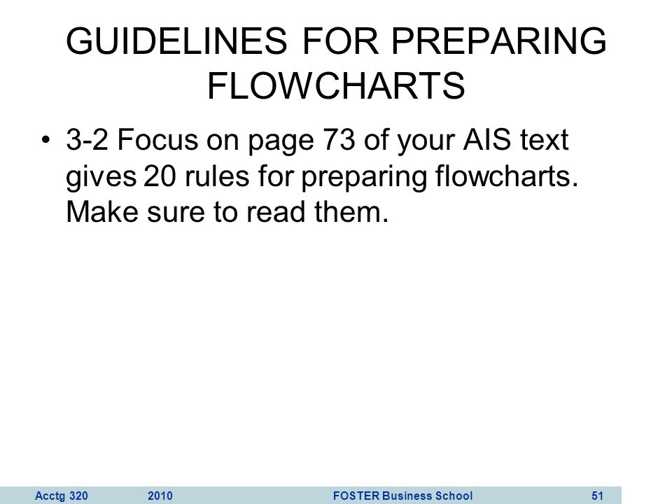 Acctg 320 2010 FOSTER Business School 52 What are the entities in this flowchart?
