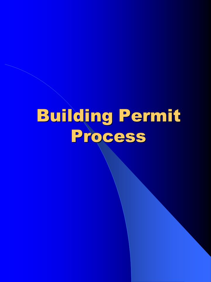 Application of Permit Building Permit Section Project Development Division Engineering Department Rm.