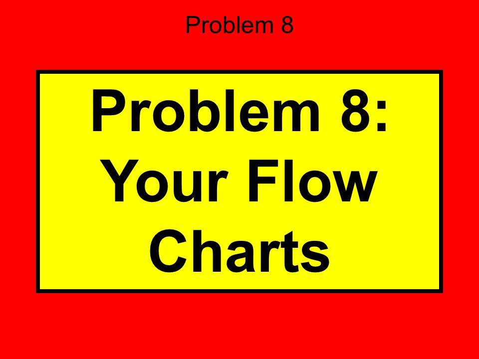 Problem 8 Problem 8: Your Flow Charts