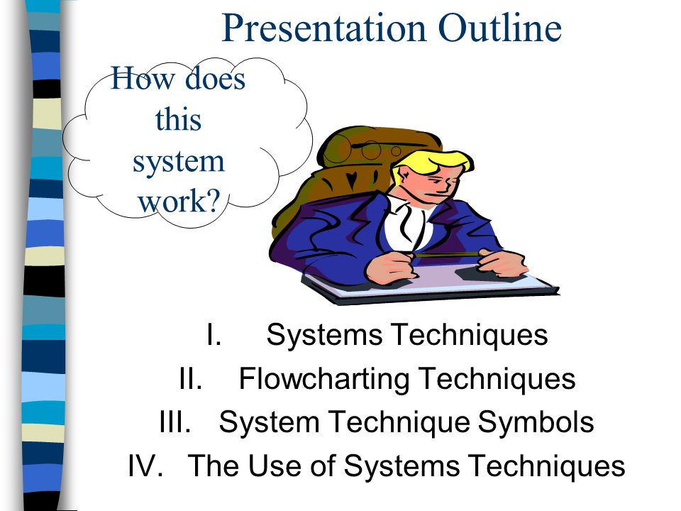 IV. The Use of Systems Techniques A.Auditing B.Systems Development