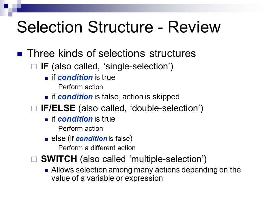 Repetition Structure Often need to repeat an action or calculation EEx.