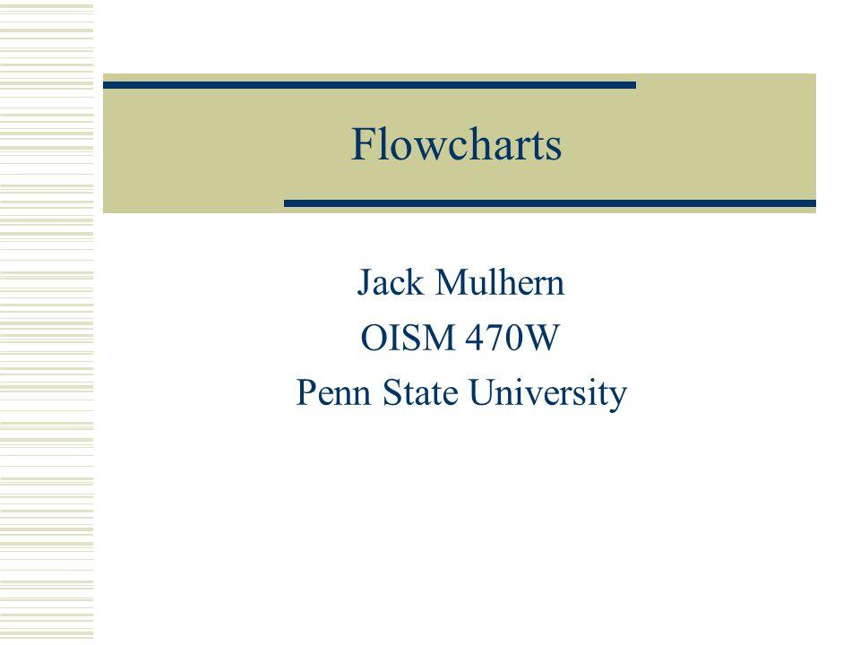 Flowcharts Jack Mulhern OISM 470W Penn State University