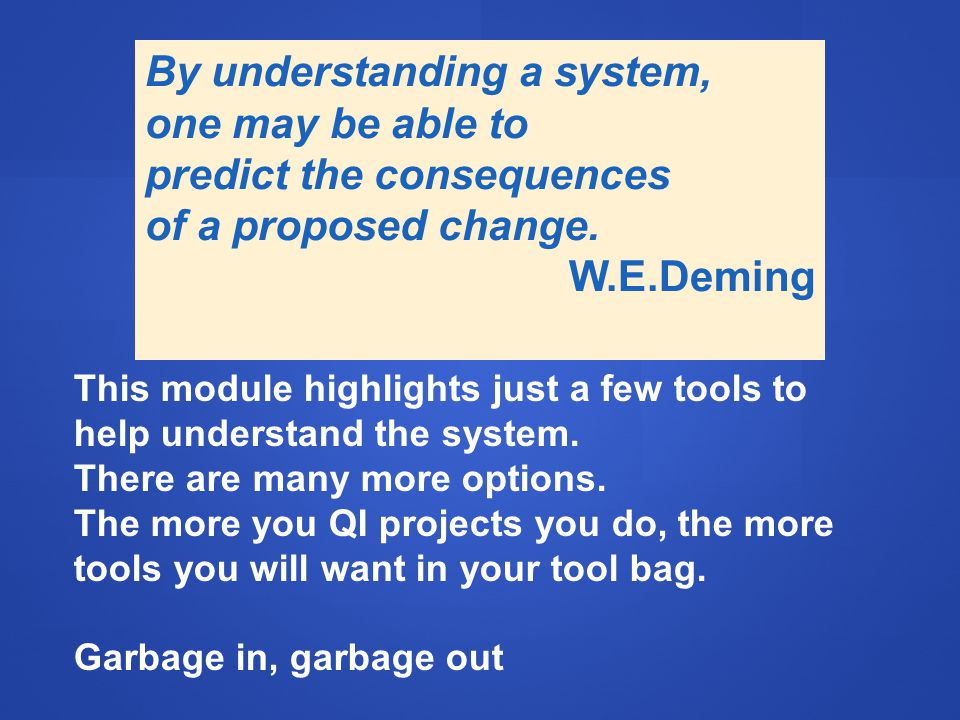 This module highlights just a few tools to help understand the system.