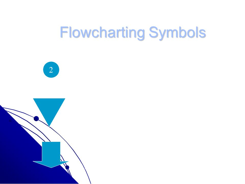 Flowcharting Symbols Small Circle: Represents connections in process flow.